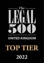 Legal 500 Top Tier 2019 badge