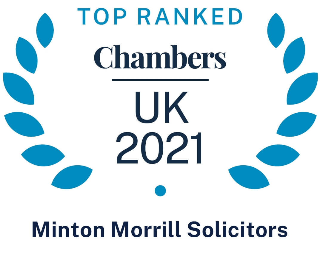 Top Ranked Chambers UK 2019 badge awarded to Minton Morrill Solicitors